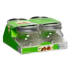 Ball Jars Collection Elite Wide Mouth Pint 4/Pack