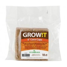 GROW!T Coco Caps, 4in, pack of