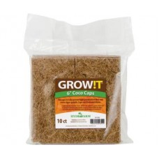 GROW!T Coco Caps, 6in, pack of