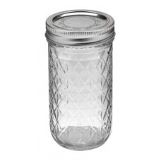 Ball Jar    12oz Quilted Crystal